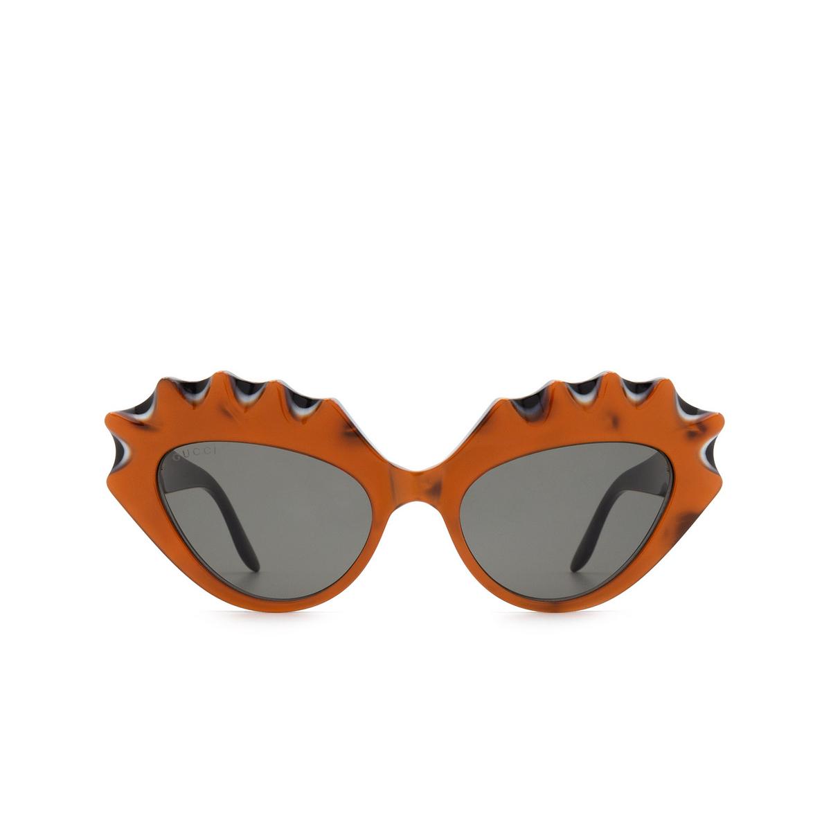 Gucci® Cat-eye Sunglasses: GG0781S color Orange 001 - 1/3.