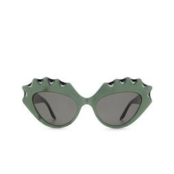 Gucci® Cat-eye Sunglasses: GG0781S color Green 002.