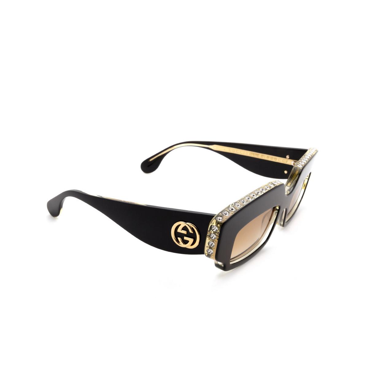 Gucci® Rectangle Sunglasses: GG0782S color Black 001 - 2/3.
