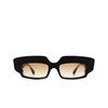 Gucci® Rectangle Sunglasses: GG0782S color Black 001 - product thumbnail 1/3.