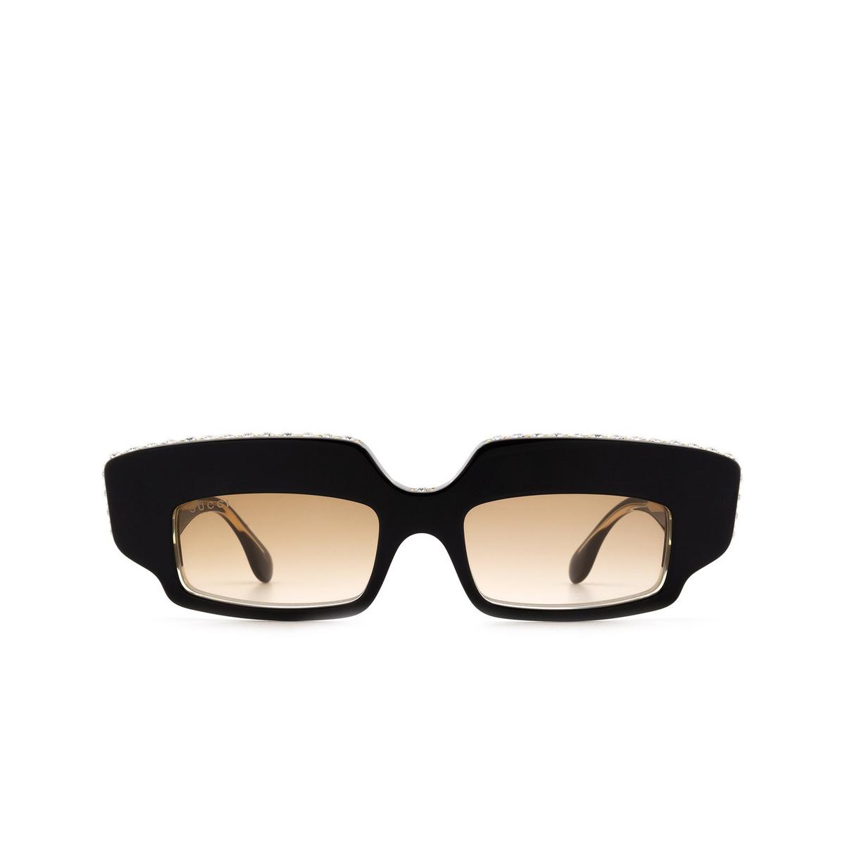 Gucci® Rectangle Sunglasses: GG0782S color Black 001 - 1/3.