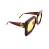 Gucci® Butterfly Sunglasses: GG0784S color Havana 001 - product thumbnail 2/3.