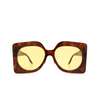 Gucci® Butterfly Sunglasses: GG0784S color Havana 001 - product thumbnail 1/3.