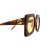Gucci® Butterfly Sunglasses: GG0784S color Havana 001 - product thumbnail 3/3.