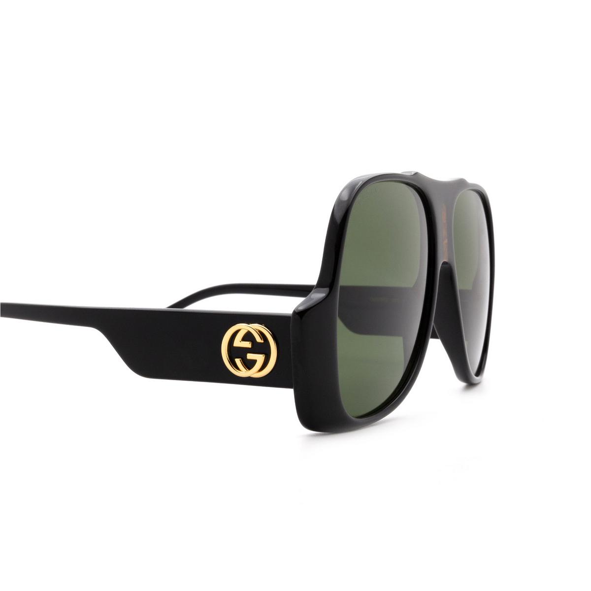 Gucci® Aviator Sunglasses: GG0785S color Black 001 - 3/3.