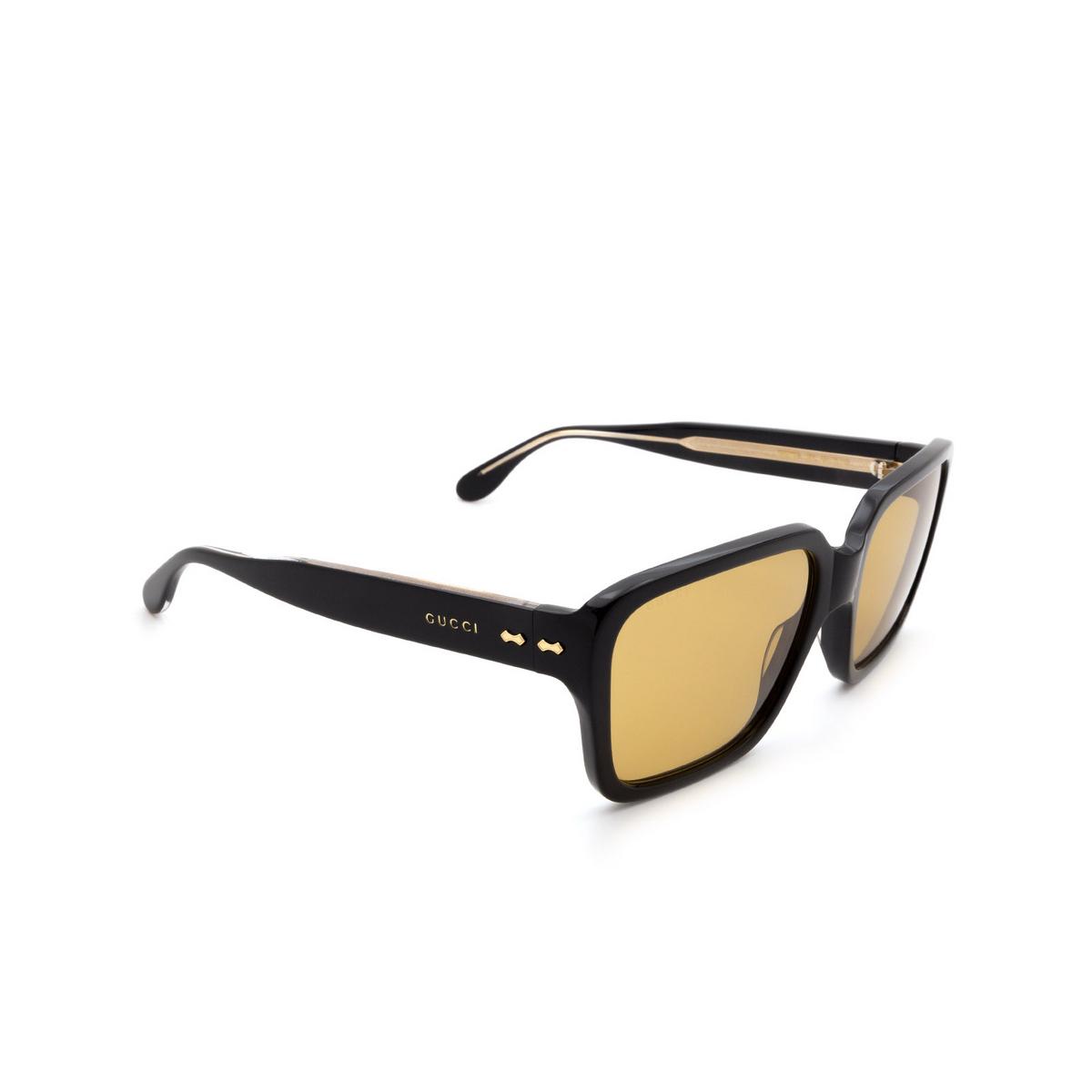 Gucci® Square Sunglasses: GG0786S color Black 001 - 2/3.