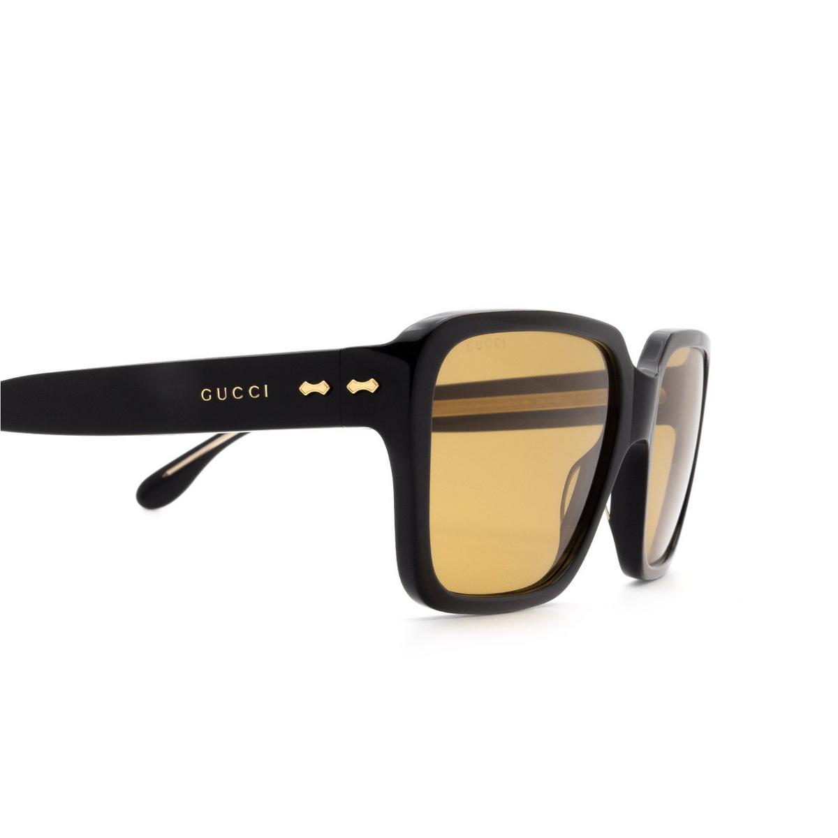 Gucci® Square Sunglasses: GG0786S color Black 001 - 3/3.