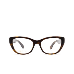 Gucci® Eyeglasses: GG0813O color Havana 002.
