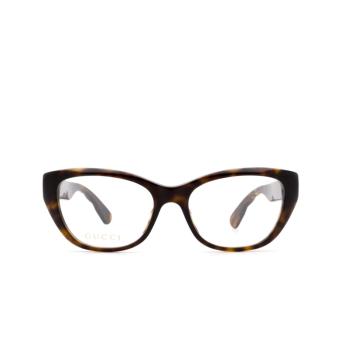 Gucci® Cat-eye Eyeglasses: GG0813O color Havana 002.