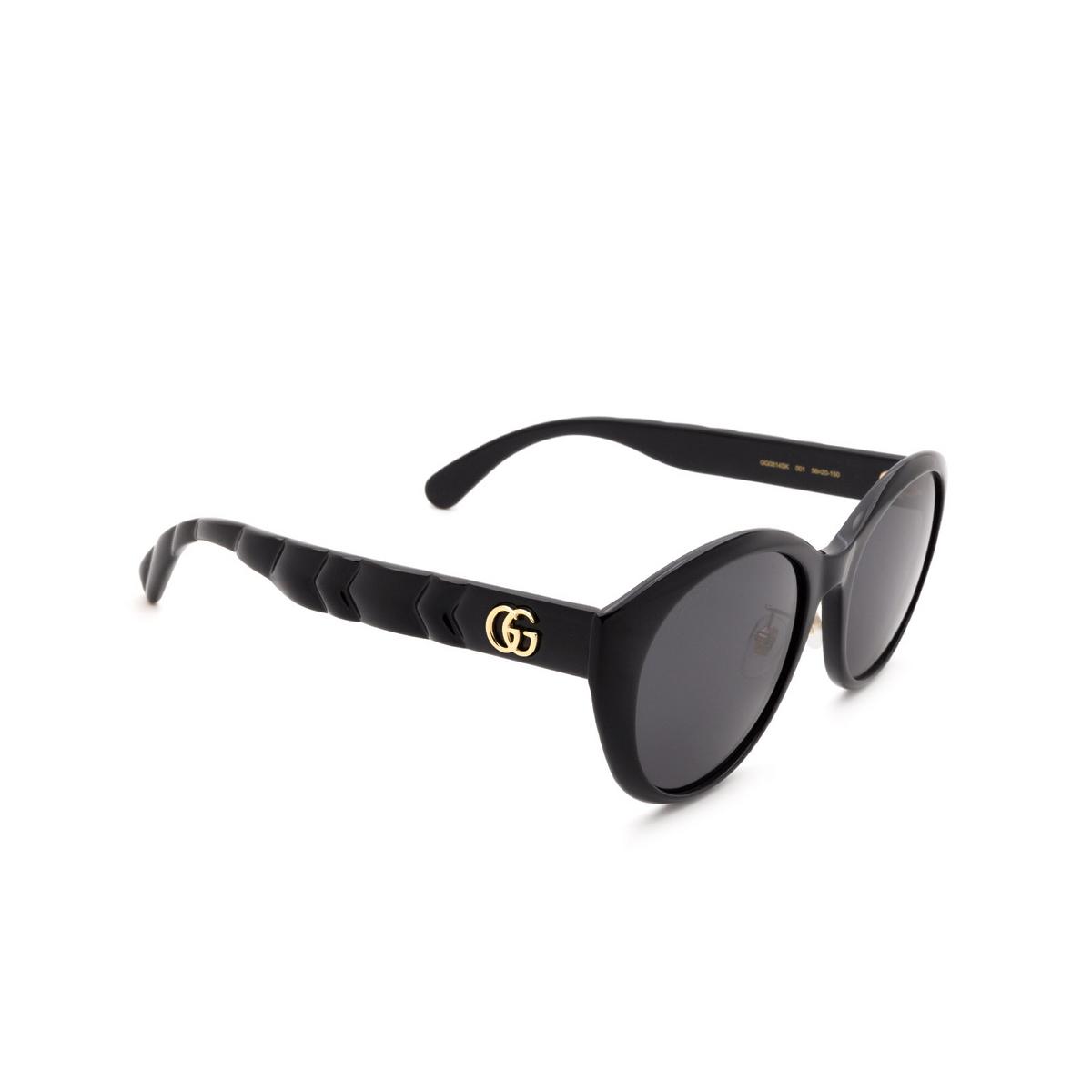 Gucci® Cat-eye Sunglasses: GG0814SK color Black 001 - 2/3.