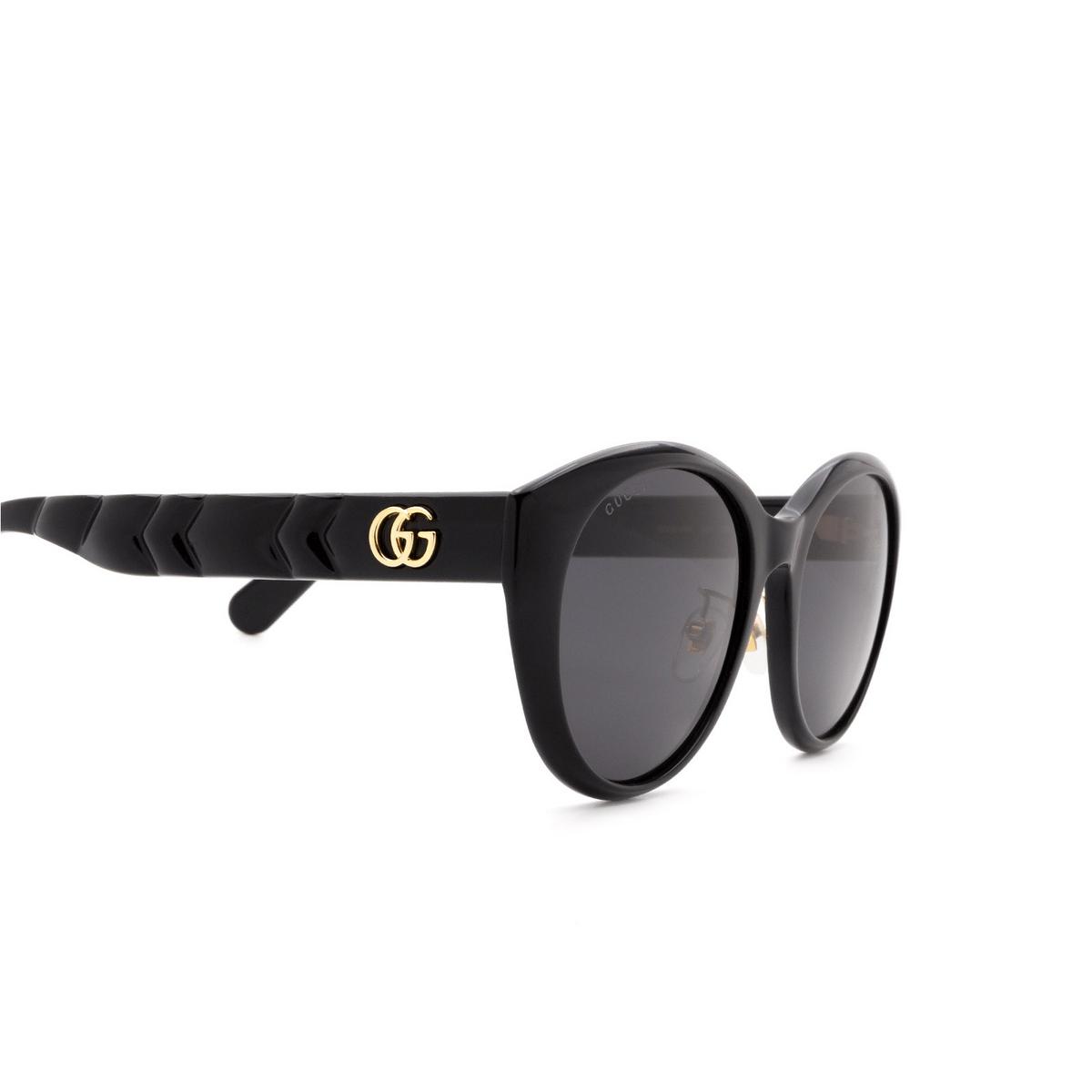 Gucci® Cat-eye Sunglasses: GG0814SK color Black 001 - 3/3.