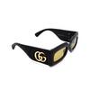 Gucci® Rectangle Sunglasses: GG0816S color Black 001 - product thumbnail 2/3.