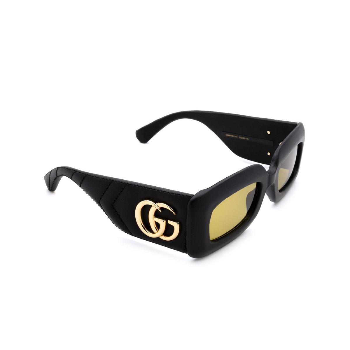 Gucci® Rectangle Sunglasses: GG0816S color Black 001 - 2/3.