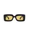 Gucci® Rectangle Sunglasses: GG0816S color Black 001 - product thumbnail 1/3.
