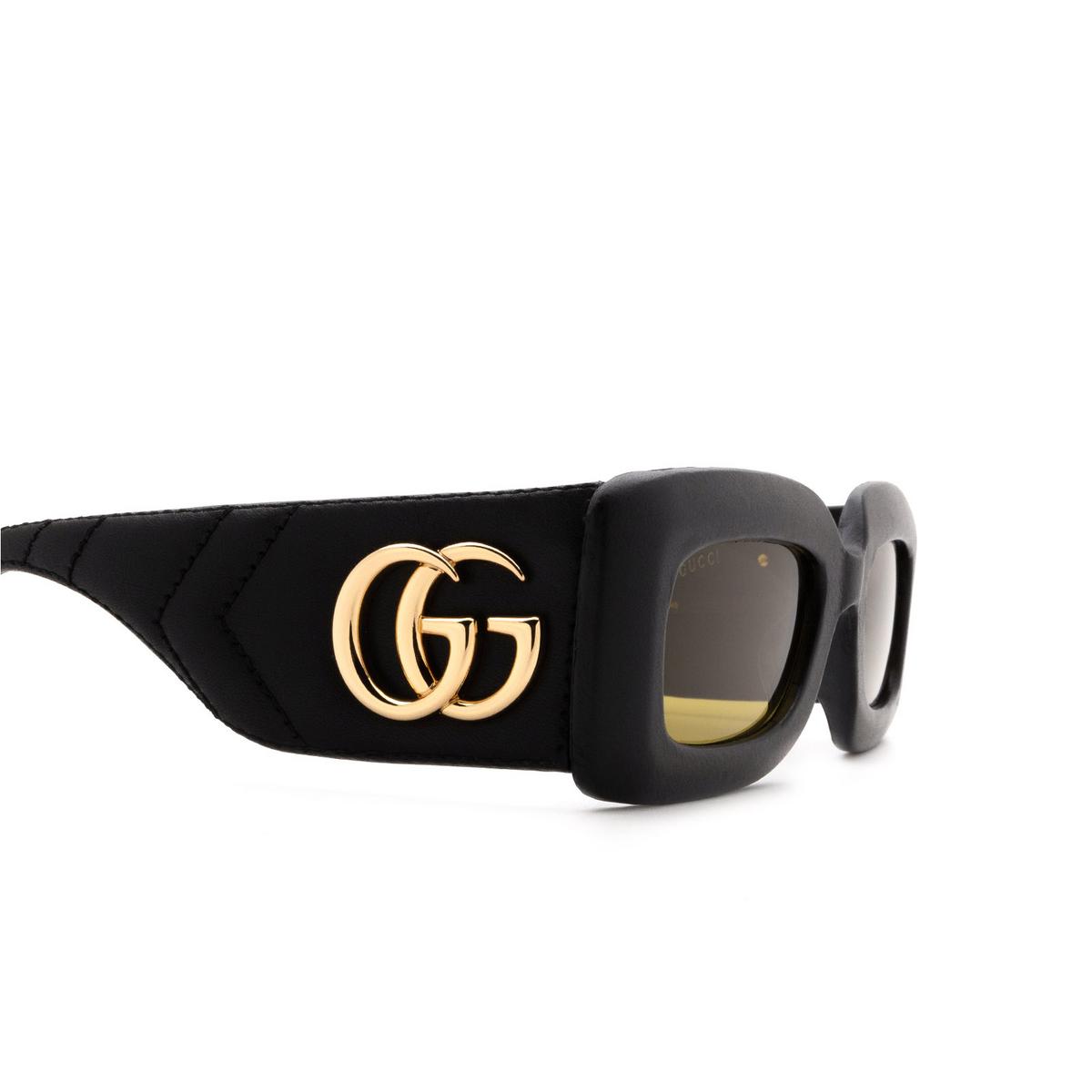 Gucci® Rectangle Sunglasses: GG0816S color Black 001 - 3/3.