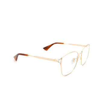Gucci® Square Eyeglasses: GG0819OA color Gold 001.