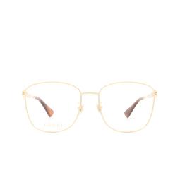 Gucci® Eyeglasses: GG0819OA color Gold 001.