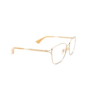 Gucci® Square Eyeglasses: GG0819OA color Gold 002.