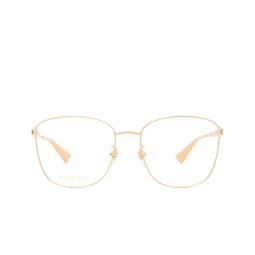 Gucci® Eyeglasses: GG0819OA color Gold 002.
