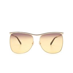 Gucci® Sunglasses: GG0820S color Gold 003.