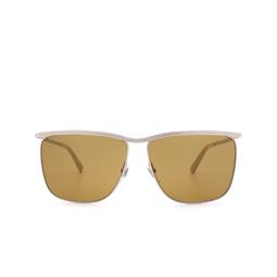 Gucci® Square Sunglasses: GG0821S color Silver 002.