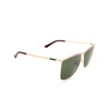 Gucci® Square Sunglasses: GG0821S color Gold 004 - product thumbnail 2/3.