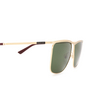 Gucci® Square Sunglasses: GG0821S color Gold 004 - product thumbnail 3/3.