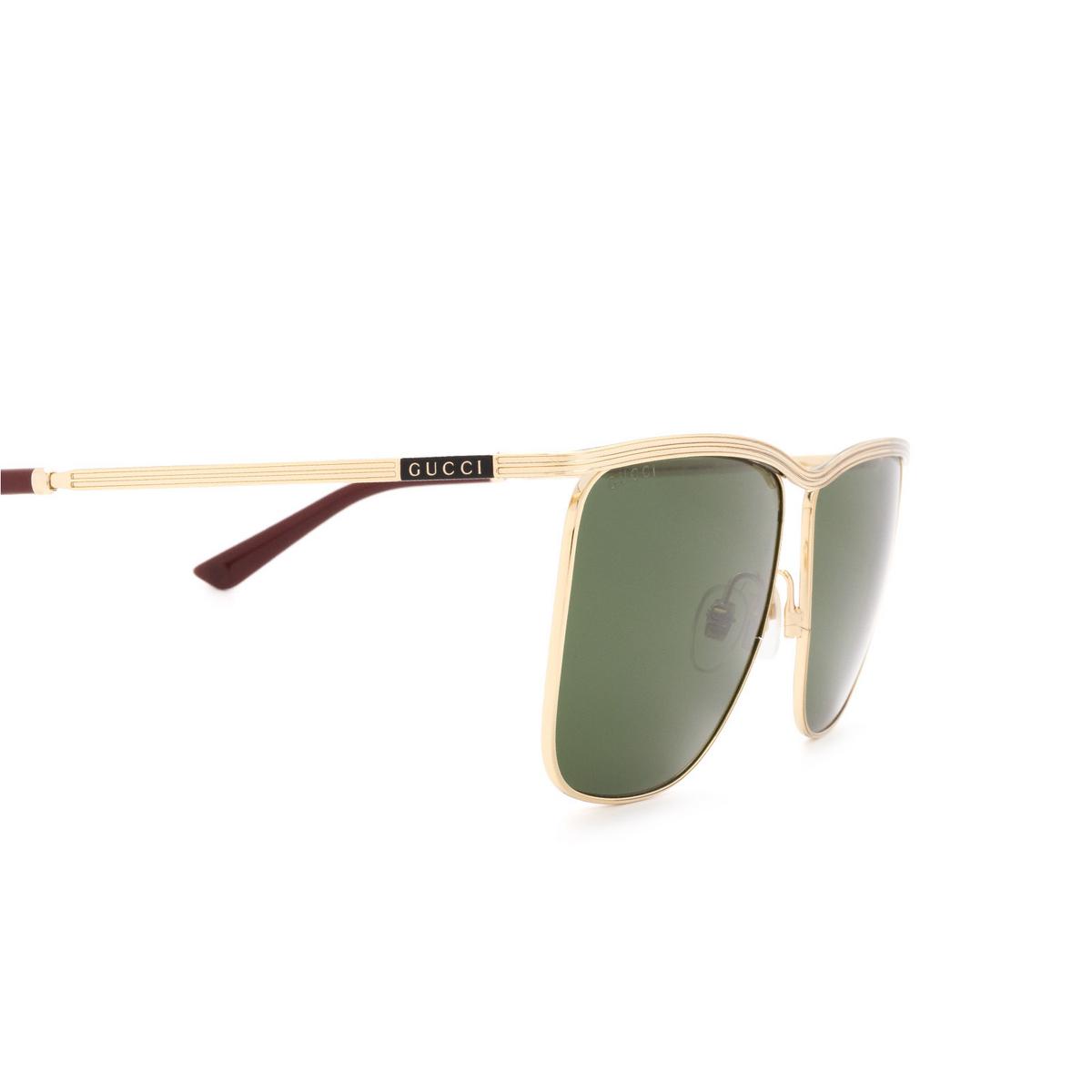 Gucci® Square Sunglasses: GG0821S color Gold 004 - 3/3.