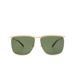 Gucci® Square Sunglasses: GG0821S color Gold 004.