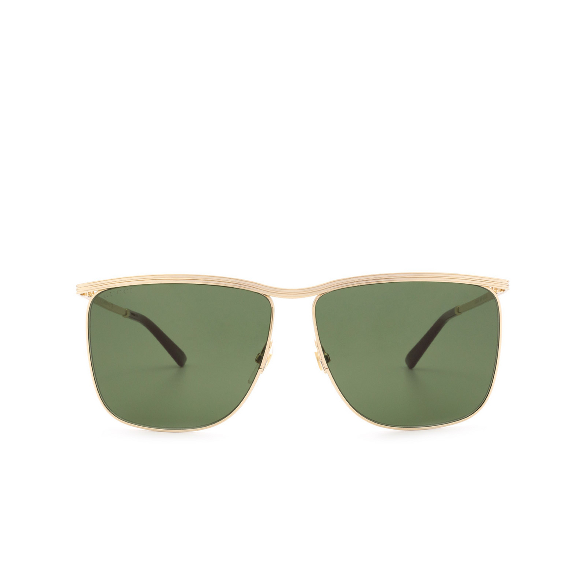 Gucci® Square Sunglasses: GG0821S color Gold 004 - 1/3.