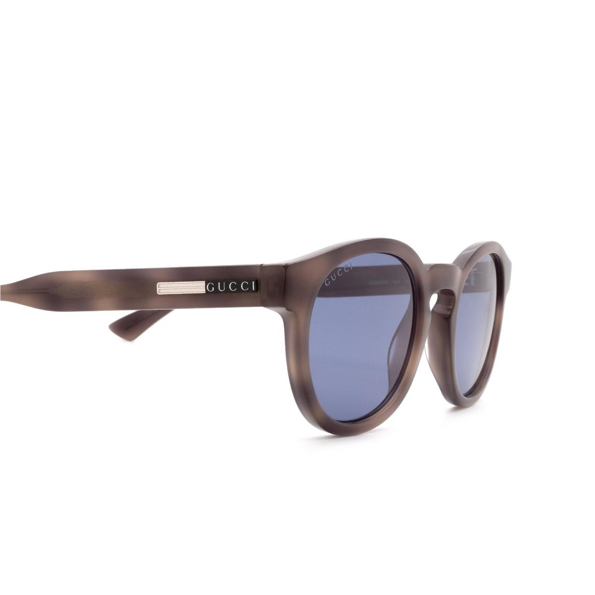 Gucci® Round Sunglasses: GG0825S color Havana 004 - 3/3.