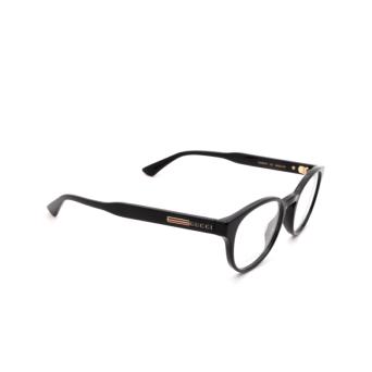 Gucci® Round Eyeglasses: GG0827O color Black 001.