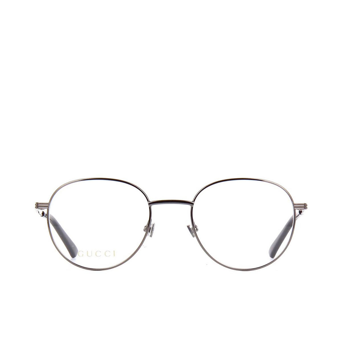 Gucci® Round Eyeglasses: GG0835O color Ruthenium 005 - front view.