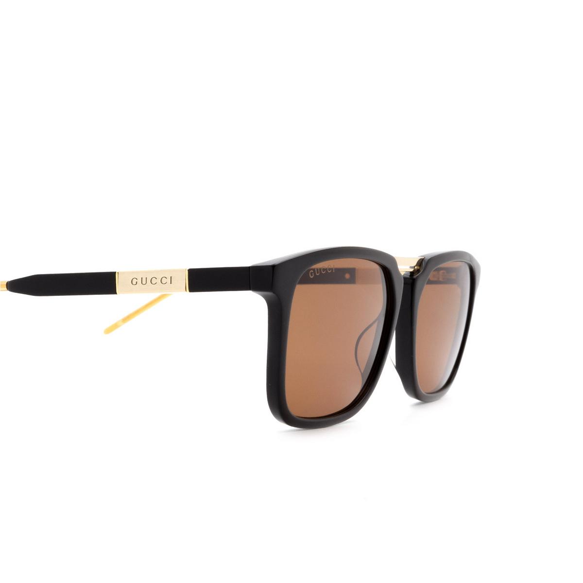 Gucci® Square Sunglasses: GG0842S color Black 001 - 3/3.