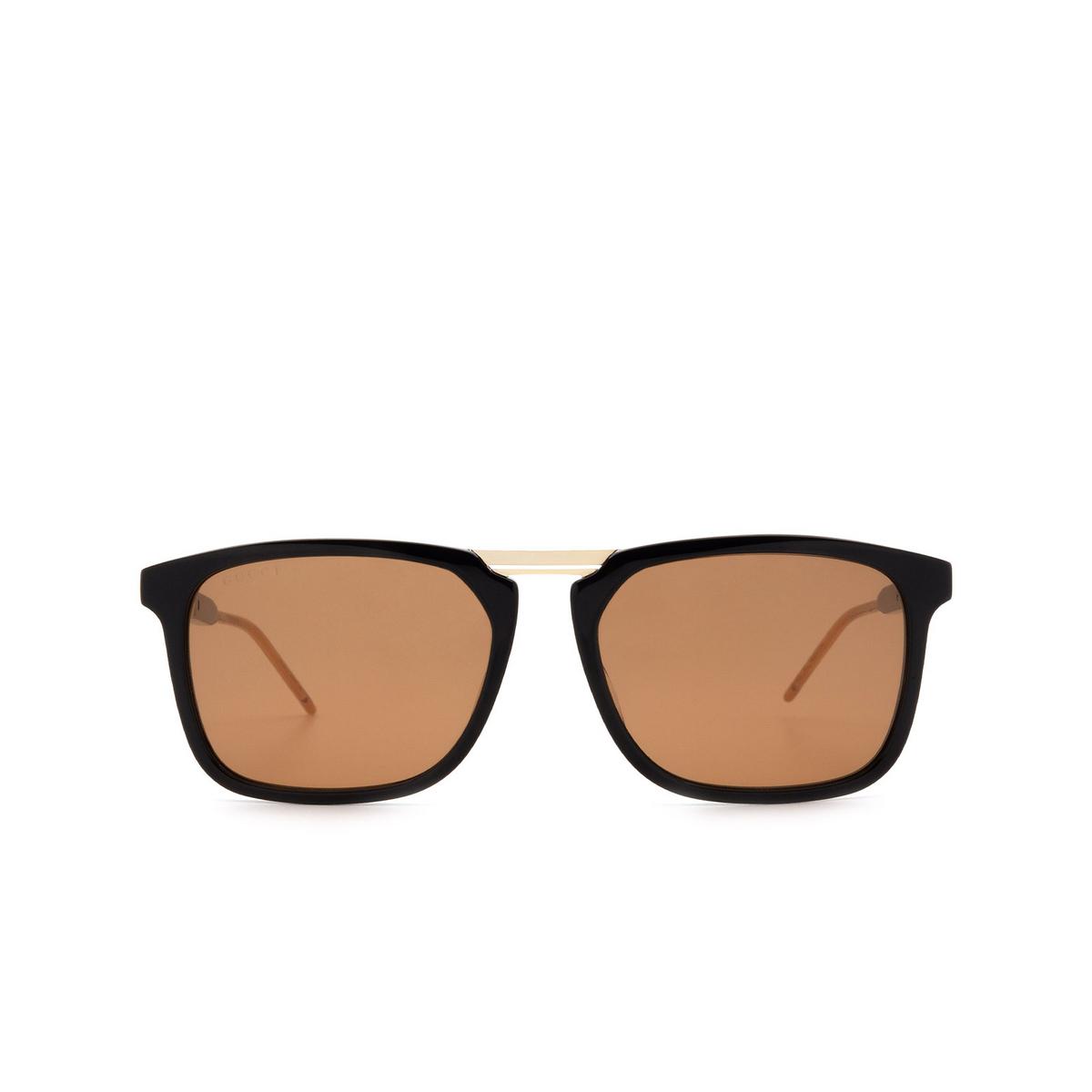 Gucci® Square Sunglasses: GG0842S color Black 001 - 1/3.