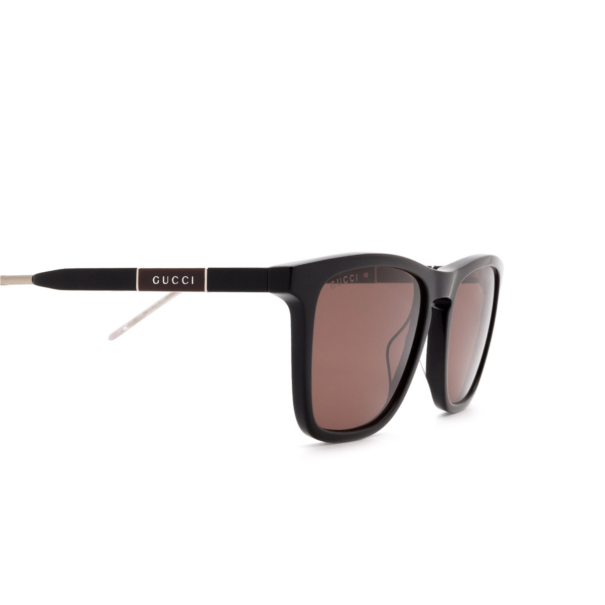 Gucci® Square Sunglasses: GG0843S color Black 004 - 3/3.