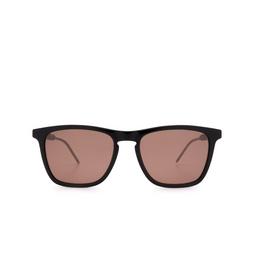 Gucci® Square Sunglasses: GG0843S color Black 004.