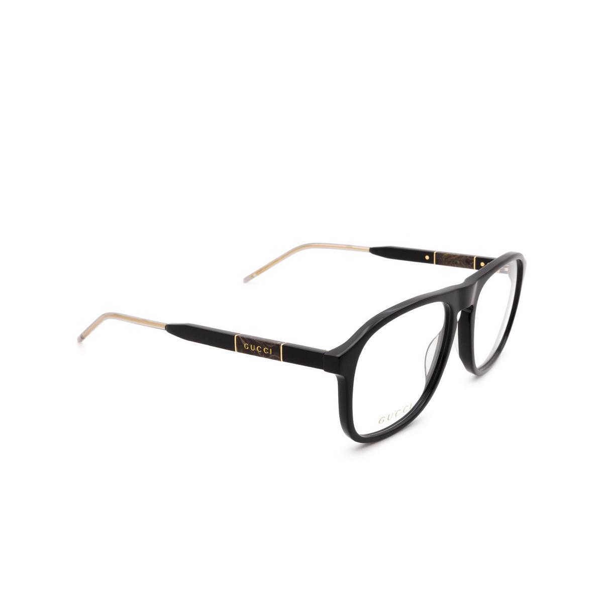 Gucci® Aviator Eyeglasses: GG0844O color Black 001.