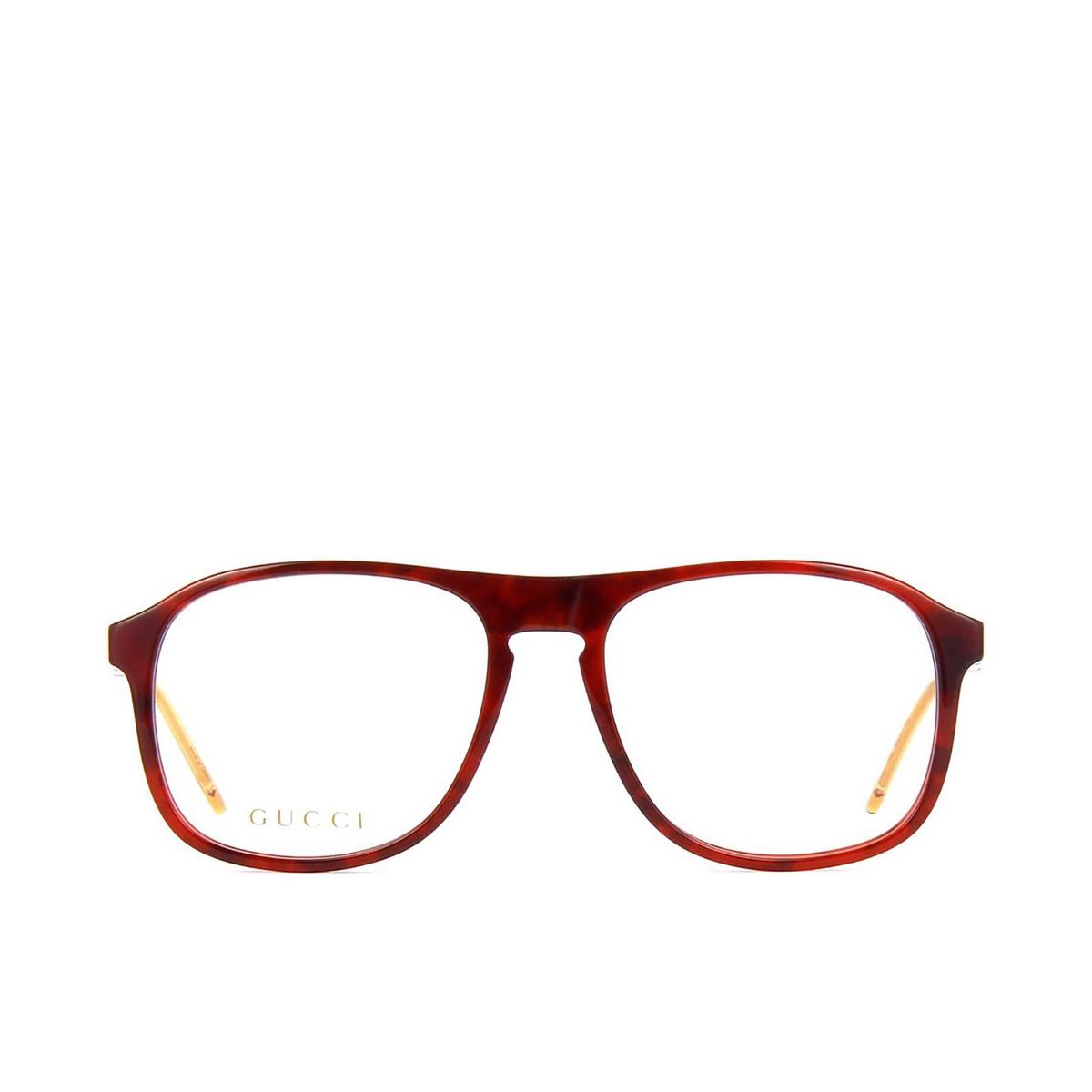 Gucci® Aviator Eyeglasses: GG0844O color Havana 002 - front view.