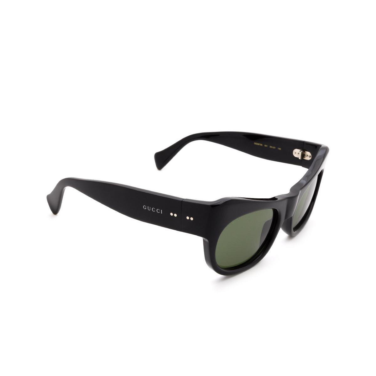 Gucci® Irregular Sunglasses: GG0870S color Black 001 - 2/3.