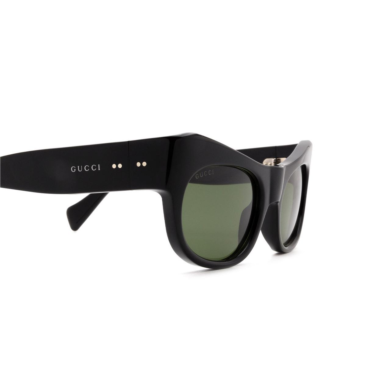 Gucci® Irregular Sunglasses: GG0870S color Black 001 - 3/3.