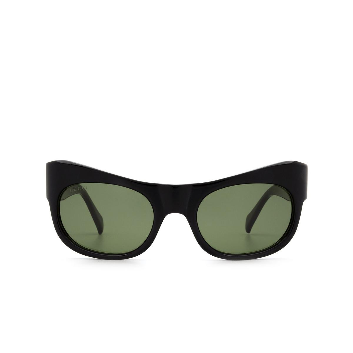 Gucci® Irregular Sunglasses: GG0870S color Black 001 - 1/3.