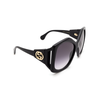 Gucci® Square Sunglasses: GG0875S color Black 001.