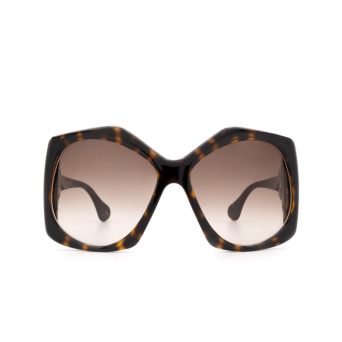 Gucci® Square Sunglasses: GG0875S color Dark Havana 002.