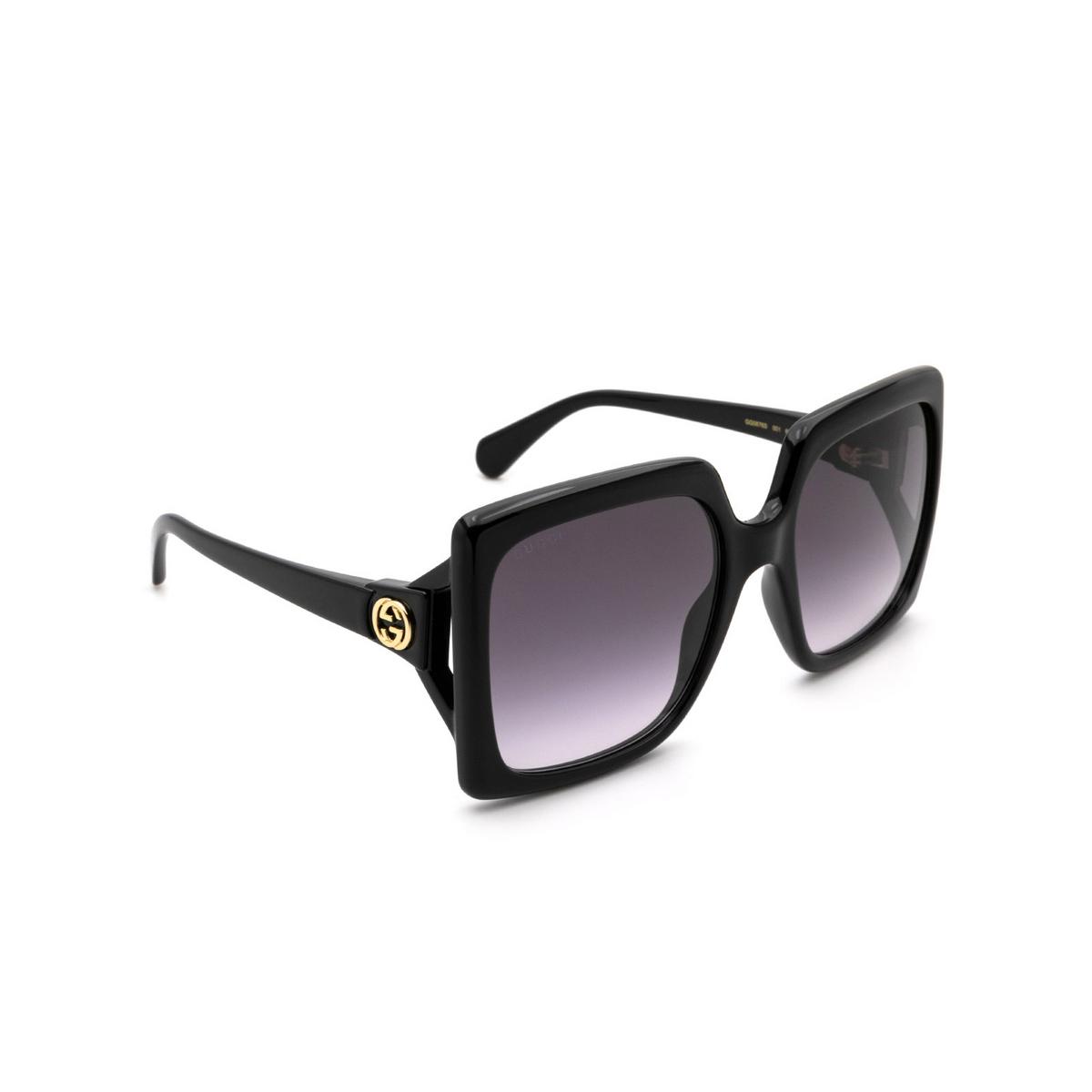 Gucci® Rectangle Sunglasses: GG0876S color Shiny Black 001 - 2/3.