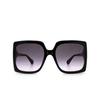 Gucci® Rectangle Sunglasses: GG0876S color Shiny Black 001 - product thumbnail 1/3.
