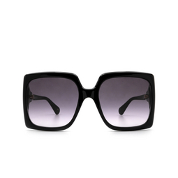 Gucci® Rectangle Sunglasses: GG0876S color Shiny Black 001.