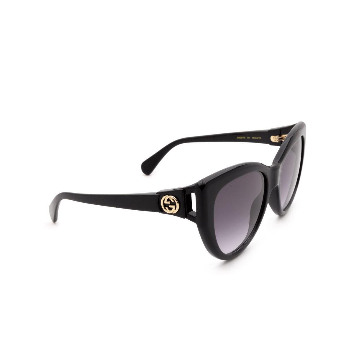 Gucci® Cat-eye Sunglasses: GG0877S color Black 001 - 2/3.