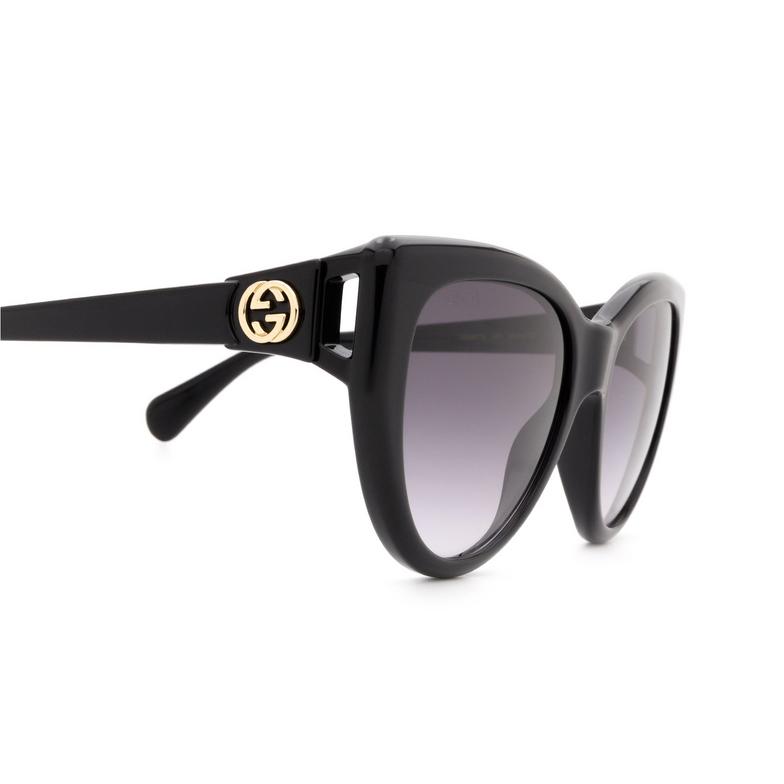 Gucci® Cat-eye Sunglasses: GG0877S color Black 001.