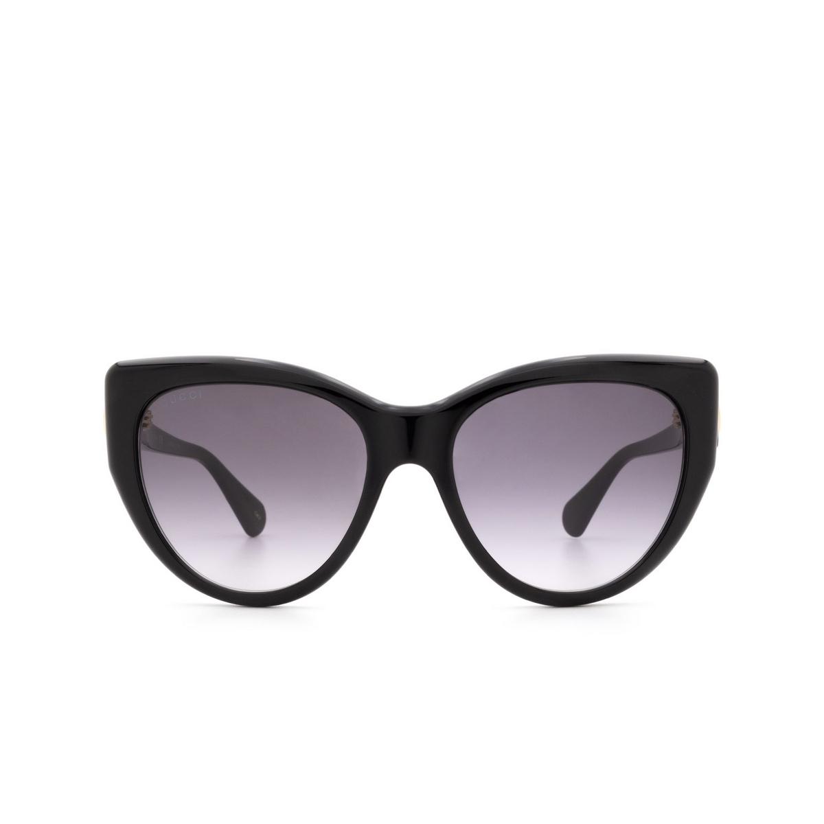 Gucci® Cat-eye Sunglasses: GG0877S color Black 001 - 1/3.